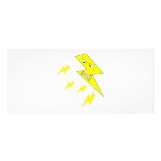 Rayo enojado. Amarillo en blanco Diseños De Tarjetas Publicitarias