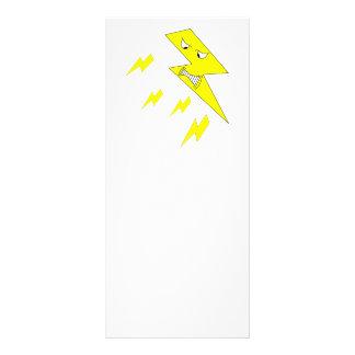 Rayo enojado. Amarillo en blanco Tarjeta Publicitaria A Todo Color