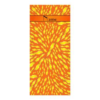 Rayos anaranjados conocidos personalizados diseño de tarjeta publicitaria