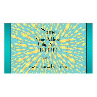 Rayos conocidos personalizados de la turquesa tarjetas de visita