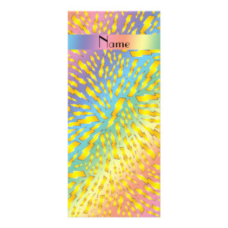 Rayos conocidos personalizados del arco iris tarjeta publicitaria