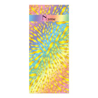 Rayos conocidos personalizados del arco iris tarjeta publicitaria personalizada