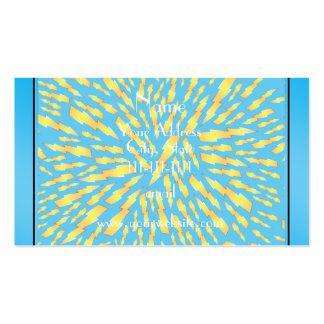 Rayos conocidos personalizados del azul de cielo tarjetas de visita