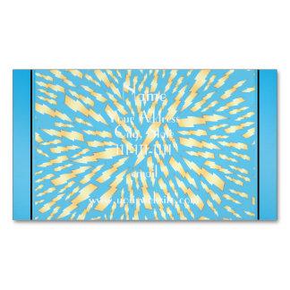 Rayos conocidos personalizados del azul de cielo tarjetas de visita magnéticas (paquete de 25)