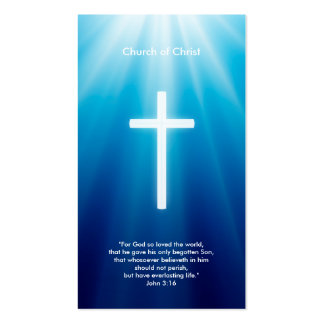 Rayos cristianos del azul de la cruz el | tarjetas de visita