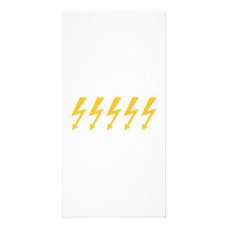 Rayos de destello amarillos tarjetas fotograficas