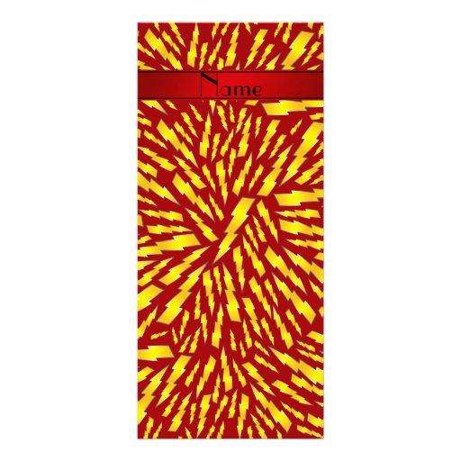 Rayos rojos conocidos personalizados tarjetas publicitarias personalizadas