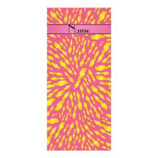 Rayos rosados conocidos personalizados tarjeta publicitaria personalizada