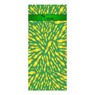 Rayos verdes conocidos personalizados tarjeta publicitaria