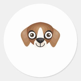 Raza americana del perro de caza del Fox - mi Pegatinas Redondas