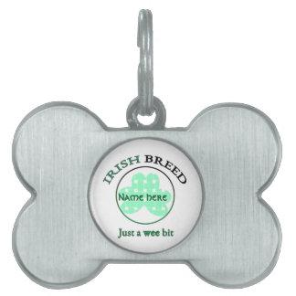 Raza-apenas irlandesa un pedazo pequenito placa para mascotas