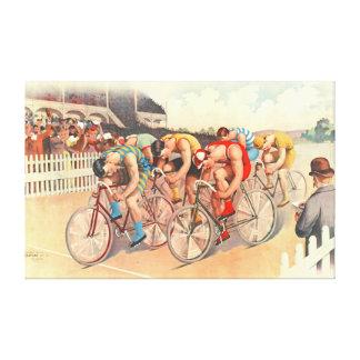 Raza de bicicleta 1895 impresión en lienzo