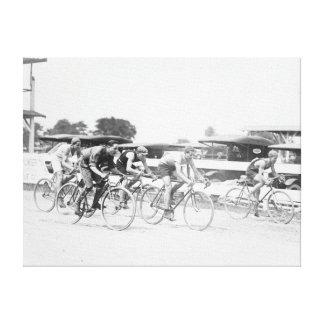 Raza de bicicleta en fotografía del Washington DC Impresion De Lienzo