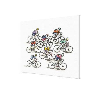 Raza de bicicleta lienzo envuelto para galerias