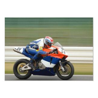 Raza de la motocicleta invitación 12,7 x 17,8 cm