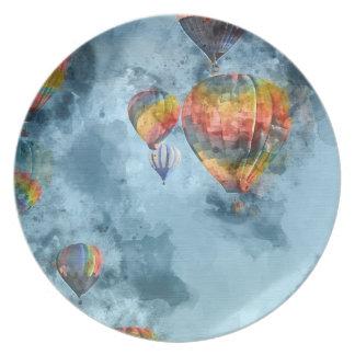Raza del globo del aire caliente en Reno Nevada Plato