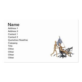 Razas a cuadros de la silla de la bandera tarjetas de visita