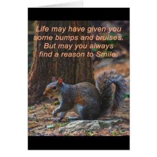 Razón para sonreír tarjeta de felicitación
