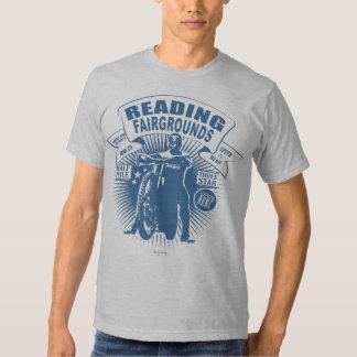 Reading in blue. camisetas