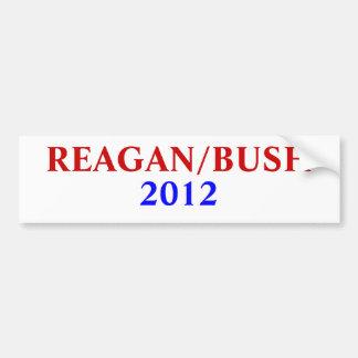 REAGAN/BUSH, 2012 PEGATINA PARA COCHE