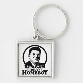 Reagan es mi Homeboy Llavero Cuadrado Plateado