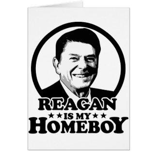 Reagan es mi Homeboy Tarjeta De Felicitación