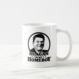 Reagan es mi Homeboy Taza Básica Blanca