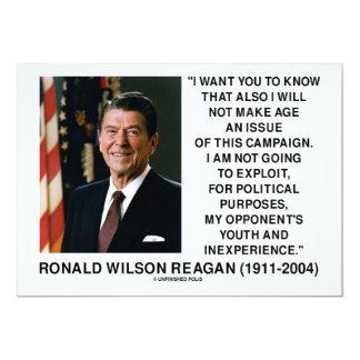 Reagan no hacer que edad una juventud de la invitación 12,7 x 17,8 cm