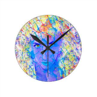 Realidad eléctrica reloj redondo mediano