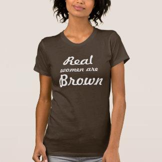 Realmente marrón camiseta