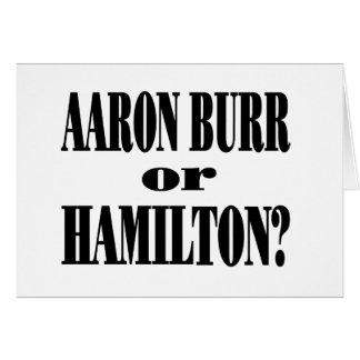 ¿Rebabas o Hamilton Tarjeta