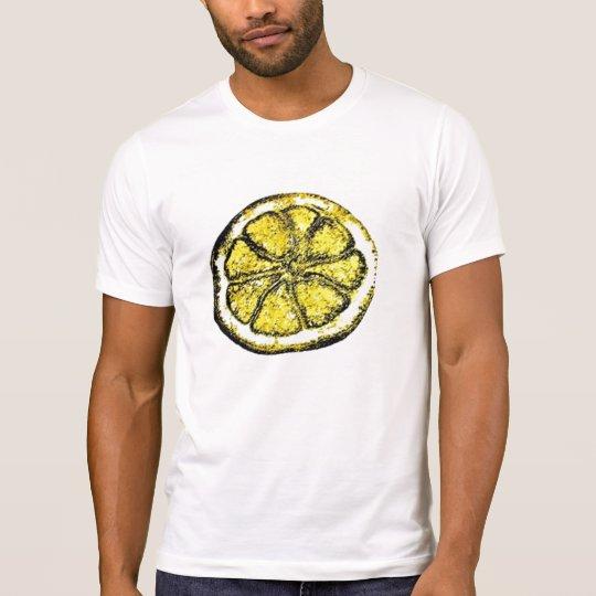 Rebanada de camiseta del limón