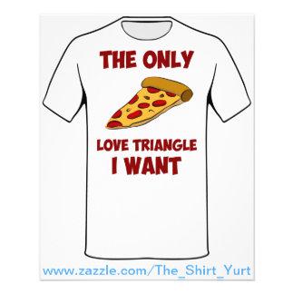 Rebanada de la pizza - el único triángulo de amor  folleto 11,4 x 14,2 cm