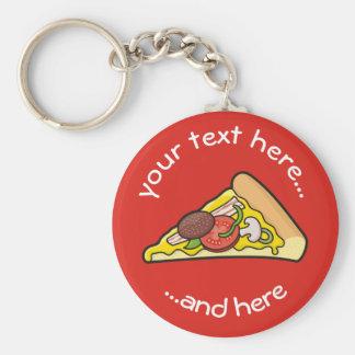 Rebanada de la pizza llavero