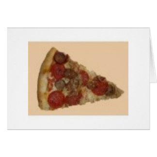 Rebanada de la pizza felicitación