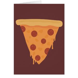 Rebanada de la pizza tarjeta de felicitación