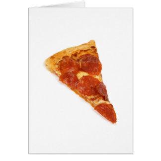 Rebanada de la pizza - una rebanada de pizza felicitacion