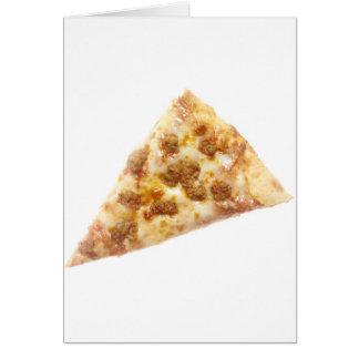 Rebanada de pizza felicitacion