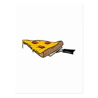 Rebanada de pizza postal