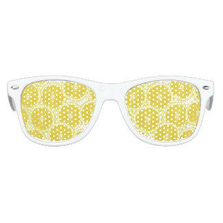 Rebanadas del limón de la fruta cítrica del verano gafas de sol