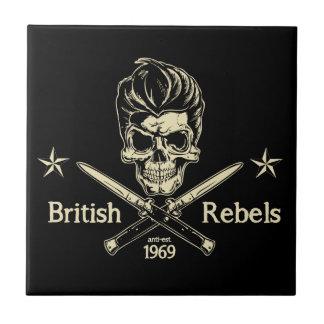 Rebeldes británicos azulejo de cerámica