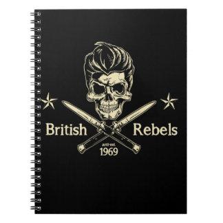Rebeldes británicos cuadernos