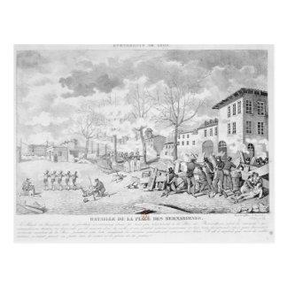 Rebelión de los trabajadores de seda de Lyon Postales