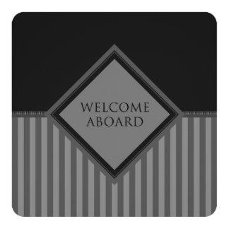recepción a bordo de (diamondStriped) Invitación 13,3 Cm X 13,3cm