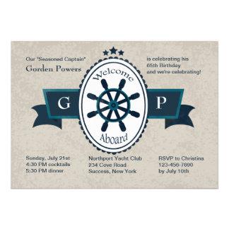 Recepción a bordo de la invitación náutica