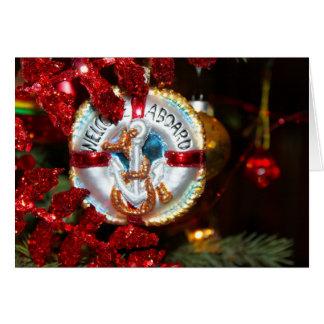 Recepción a bordo de la tarjeta de Navidad