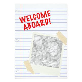 ¡recepción a bordo! polaroid invitación 8,9 x 12,7 cm