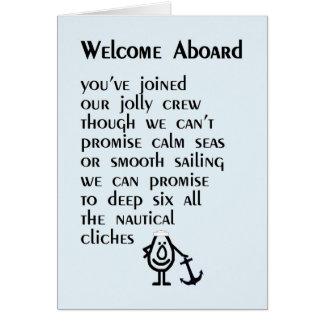 Recepción a bordo - un poema divertido para su tarjeta de felicitación