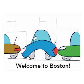 ¡Recepción a Boston! Postal