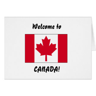 Recepción a Canadá Tarjeta De Felicitación